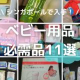 【2020年】シンガポールで入手!ベビー用品必需品11選